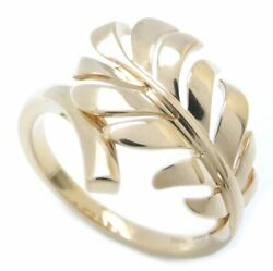 Mint Auth 18k Yellow Gold Plume De Ring Size 54/ 096140 Free Ship
