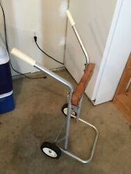 Vintage Sea King Roll Around Stand Cart Outboard Motor Montgomery Ward Neptune