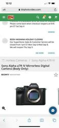 Sony A7r Iv 35mm Full-frame Camera With 61.0mp - Black Body Only