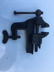 Antique Vtg Jewelers Cobblers Bench Vise Anvil Early Pat
