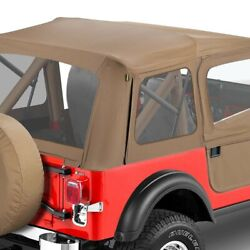 For Jeep Cj5 76-83 Bestop Supertop Classic Tan Complete Replacement Soft Top