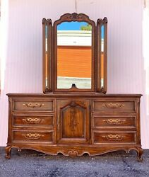 Rare Vintage Drexel Brittany Heritage French Provincial Louis Xv Dresser
