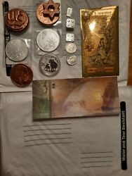 Lot Of Silver Gold And Copper Bullion Great Starter Lot For New Stackers