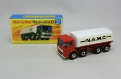 Matchbox Lesney Superfast No32 Leyland Tanker Rare Red N.a.m.c Issue Wow