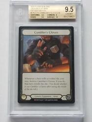 Flesh And Blood Tcg Crucible Of War 1st Gamblers Gloves Cold Foil Bgs 9.5
