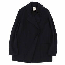 Hermes Coat Gaultier Period Wool Knit Outer Jacket Women And039s Made In No.2563