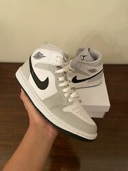 Air Jordan 1 Mid Womenandrsquos Light Smoke Grey Size 9w/7.5m In Hand Ships Today