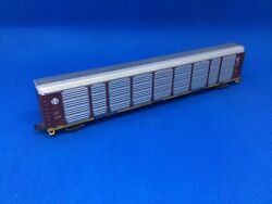 """Used N Scale Con-cor Santa Fe """"q"""" Autorack With M/t Trucks And Couplers 965942 1"""