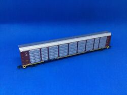 """New N Scale Con-cor Santa Fe """"q"""" Autorack With Rapido Trucks And Couplers 978025"""