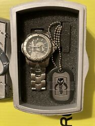 Star Wars Mandalorian / Boba Fett Fossil Limited Edition Watch Extremely Rare