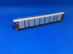 """New N Scale Con-cor Santa Fe """"q"""" Autorack With Rapido Trucks And Couplers 965942"""