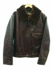 Used Buzz Rickson39s B2 Blanket Lined Br80331 Flight Jacket 44 Leather Br