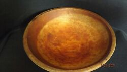 Antique Munising Wooden Farmhouse 9 Oval Bowl Signed