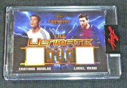 2021 Leaf Ultimate Sports Duo Cristiano Ronaldolionel Messi Jersey Gold D 1/1