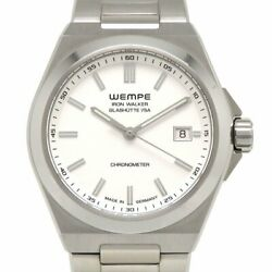 Wempe Iron Walker Wi100004 Automatic Silver Dial Stainless Mens