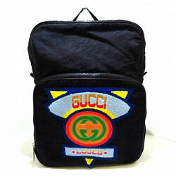 1980and039s Patch Backpack Black Blue Multi Nylon Mightes Razor No.2690