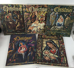 5 Lot Vtg 1960s An American Annual Of Christmas Literature And Art Paperback Books