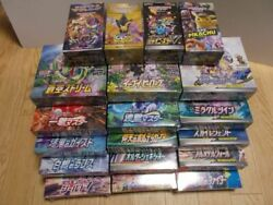 Pokemon Card Game Total 19box With Shrink Unopened 510 Pack Eevee Heroes Tag A