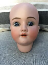 8andrdquo Antique Bisque Doll Head....walkure Germany
