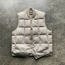 Vintage 60s Eddie Bauer Quiltedgoose Down Vest Mens Size Small Tan Usa Made