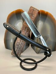 Vintage 9/16 Wade And Butcher Genuine Bow Straight Razor And Coffin Box