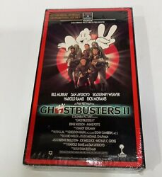 Rare Factory Sealed Ghostbusters 2 Promo Screener Vhs Tape Gold Foil Stamp Grail
