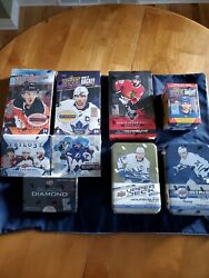 Nhl Upper Deck Hobby Boxand039s Lot Of 6 2 Collectable Tins 1 Blaster Box
