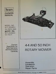 Sears Ff/ 20 24 18 Lawn Garden Tractor Implements Owner And Parts 6 Manual S H.p