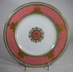 Wedgwood Colombia Pink Dinner Plate Antique
