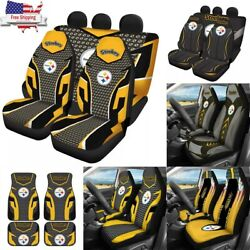 Us Pittsburgh Steelers 5 Seats Car Seat Cover Truck Front/rear Cushion Protector