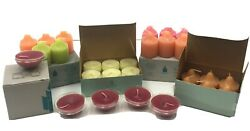 Partylite Candle Assortment Votives Floaters Tealights Pineapple Cranberry More