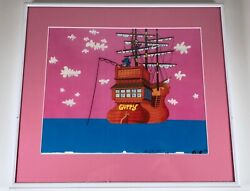 Rare Vintage Quaker Capand039n Crunch Cereal Animation Art Commercial Cel Advertising