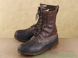 Used Made In Usa Ll Bean Vintage Bean Boots Good Taste Brown Brown Men39s 9m 2
