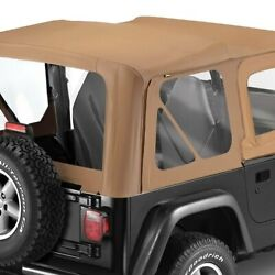For Jeep Wrangler 88-95 Bestop 79120-37 Replace-a-top Spice Sailcloth Soft Top