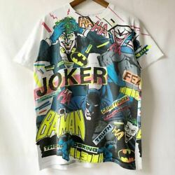 Vintage 89and039s Batman The Killing Joke Over Print T-shirt Size L Made In Usa Used