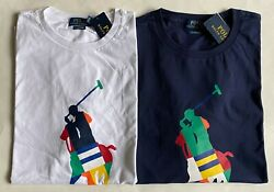 Nwt Mens Polo Big Pony Classic Fit Jersey T-shirt Abstract Print