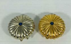 Prototype 1974 Estee Lauder Gold And Silver- Super Solid Perfume Compacts Set