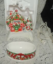 Mandmand039s Dept 56 Santa House Lighted House And Candy Dish Animated See Description