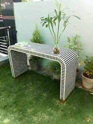 Bone Inlay Console Antique Striped Design Console Table/sidetable Home Furniture
