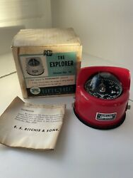 Vintage New Old Stock - E.s. Ritchie And Sons Inc - Boston Whaler - Compass Red