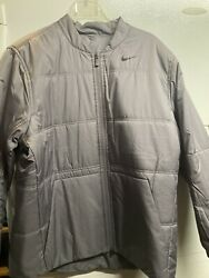 Nike Menand039s Synthetic-fill Golf Jacket Reversible Grey Xxl New 150