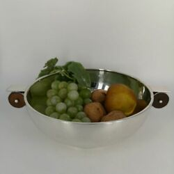 Big Art Deco Bowl In Silver From Denmark 1935