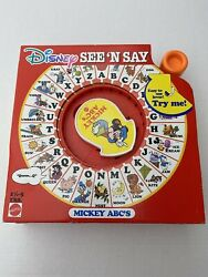 Mattel Disney See N Say Wonderful World Of Color Vintage 1990 Mickey Mouse Abcandrsquos