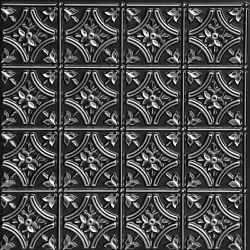 150 Antique Silver Lot Of 12 Pvc Ceiling Tiles Grid 2and039 X 2and039