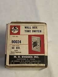 M H Rhodes Mark-time Timer Switch 90024 60 Min - Incl /install Instr And Catalog