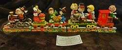 Danbury Mint Peanuts Snoopy Thanksgiving Special 5 Pc Train Mint Orig Packaging