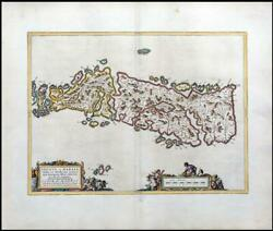 1654 Leogus Et Haraia Isle Of Lewis And Harris In Scotland Map By Blaeu