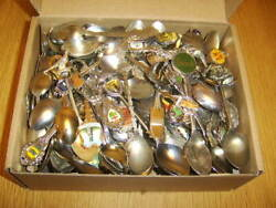 200 Souvenir / Collectible Spoons - Silverplated And Stainless