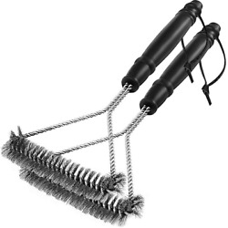 2 Pack Grill Brush Bbq Cleaning Brush Barbecue Grates Cleaner Stainless Steel