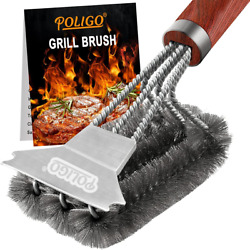 Bbq Brush For Grill Cleaning Safe Grill Brush And Scraper With Deluxe Handle